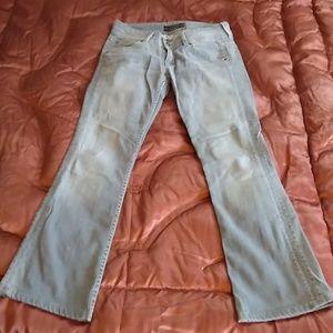 Grey Hemmed Hudson Jeans (28/29)